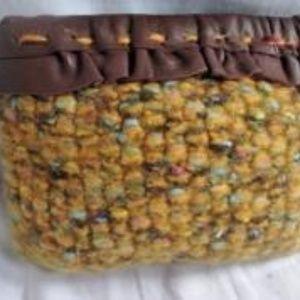 New KATYUNE NEW YORK Boiled Wool Felt Clutch Purse